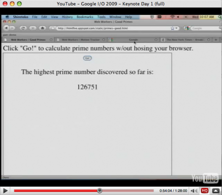 Calculate prime numbers in the background