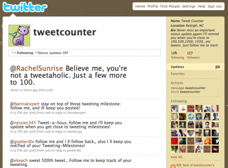 @TweetCounter on Twitter